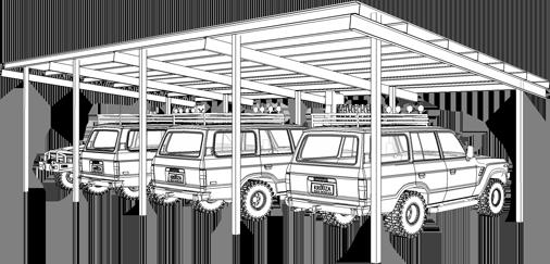 Shelter for 4 Cars