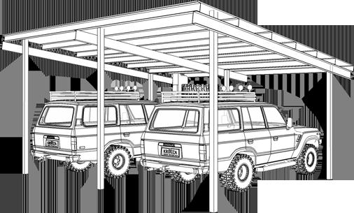 Shelter for 2 Cars