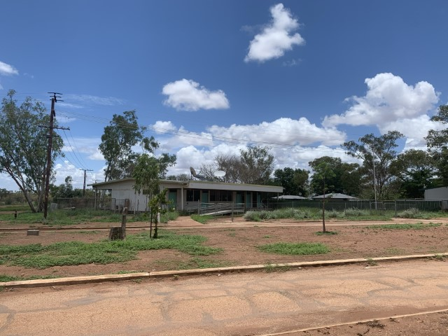 The old clinic in Kalkaringi, NT, the site for Bower 2020