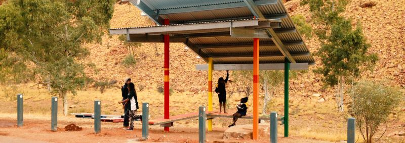 Outdoor shelter in Areyonga, Northern Territory